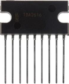 """TDA2616/N1.112, Двухканальный HI-FI аудиоусилитель с функцией """"Mute"""", 2 х 12Вт, ± 16В/+ 24В, 20…20000Гц [SIL-9]"""