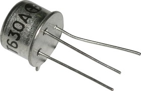 КТ630А никель, Транзистор NPN 120В 1А 0,8Вт 50МГц TO-39 (КТ-2) (2N1711)