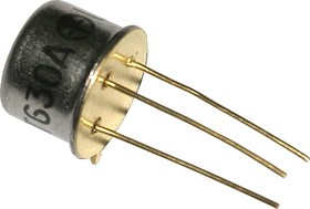 КТ630А (2N1711), Транзистор NPN 120В 1А 0,8Вт 50МГц TO-39 (КТ-2)