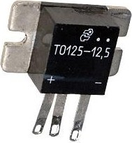 ТО125-12.5-12 (б/крепежа), Тиристор оптронный фланцевого исполнения 12.5А 1200В