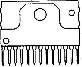 LA42351, Двухканальный усилитель НЧ 5Вт с электронной регулировкой уровня громкости