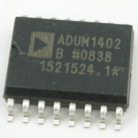 Фото 1/4 ADUM1402BRWZ, Четырехканальный цифровой изолятор [SO-16W]