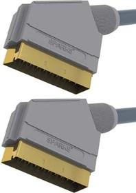 BGL1150 (SG1150), Шнур SCART - SCART, GOLD, 21 pin, 1.8м
