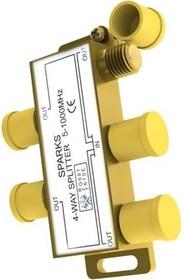 SG1176, Разветвитель антенный на 4ТВ, 5-1000мгц, улучшенный