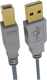 BGL1190 (SG1190), Шнур USB2.0 A вилка - USB B вилка, GOLD, 1.8м