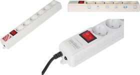 Фото 1/2 SPL(5+1)-B6 WHITE, Удлинитель сетевой с фильтром Pro, 6 розеток, 1.95м, белый