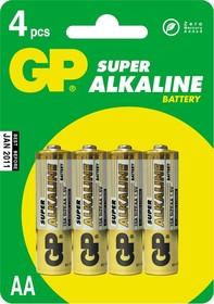 Фото 1/2 15A (A316/LR6/AA)4, Элемент питания алкалиновый Super (4шт) 1.5В
