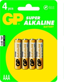 Фото 1/2 24A (A286/LR03/AAA)4, Элемент питания алкалиновый Super (4шт) 1.5В