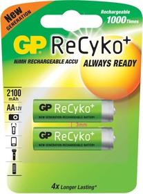 210AAHCB (ReCyko+) (HR06/АА), Аккумулятор никель-металлгидридный NiMH 2000-2100mAh (2шт) 1.2В