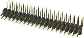 Фото 1/2 PLD2-40R (DS-1025-06 - 2x20), Вилка штыревая 2мм 2х20 угловая