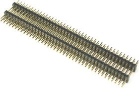 PLLHD-80 (DS1031-11-2x40), Вилка штыревая 1.27мм 2х40 прямая