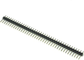 Фото 1/2 PLS-40 (DS1021-1x40), Вилка штыревая 2.54мм 1х40 прямая тип1