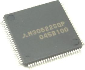 M30622SGP, Микроконтроллер, М16С, 16-Бит, 16МГц, ROMLESS, 47 I/O [100P6Q A]