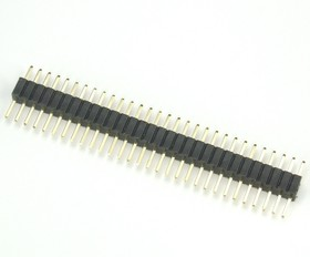 Фото 1/2 PLL-30 (DS-1031-01 - 1x30), Вилка штыревая 1.27мм 1х30 прямая