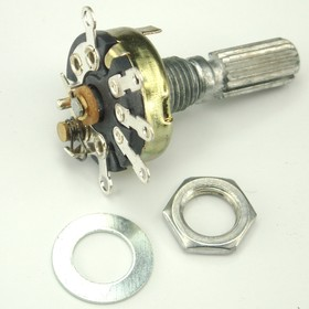 R-17S1-B100K, L-20R, 100 кОм, Резистор переменный с выключателем