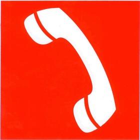 """Знак """"Телефон для использования при пожаре"""" 200х200,"""