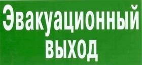 """Знак """"Эвакуационный (запасной) выход"""" флуоресцентный 150х300,"""