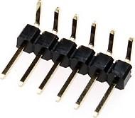 PLS-6R (DS1022-1x6R), Вилка штыревая 2.54мм 1х6 угловая (тип D1)