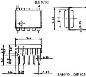 LB1638, Низковольтный, двунаправленный драйвер электродвигателя, 2В…9В, 500мА