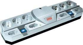 Most THV, 2м, белый, Удлинитель сетевой с фильтром, свыше 250V, 2 независимых блока розеток