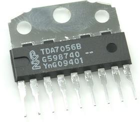 TDA7056B/N1.112, Мостовой аудиоусилитель с электронным управлением громкостью, 5Вт, 4.5…18В, ТВ-приемники, [SIL-9]