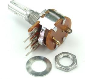 Фото 1/2 S16KN1-B100K, L20KC, 100 кОм, Резистор переменный с выключателем