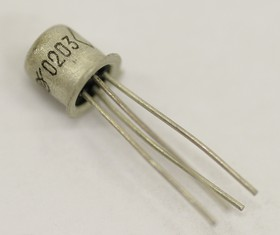 Фото 1/2 КП303Б никель, Транзистор, N-канал [КТ-112]