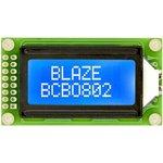 BCB0802-02-BL, ЖКИ 8х2 символьный англо-русский с подсветкой