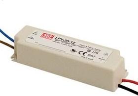 LPV-20-12, AC/DC LED, 12В,1.67А,20Вт,IP67 блок питания для светодиодного освещения