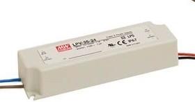 Фото 1/2 LPV-35-24, AC/DC LED, 24В,1.5А,36Вт,IP67 блок питания для светодиодного освещения