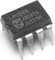 Фото 1/2 LM358NG, Двухканальный операционный усилитель с однополярным питанием, 3В…32В, [DIP-8]