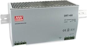 DRT-480-24, Блок питания, вход:3х фазное 340-550В,выход 24В,20А,480Вт