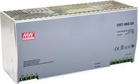 DRT-960-24, Блок питания, вход:3х фазное 340-550В,выход 24В,40А,960Вт