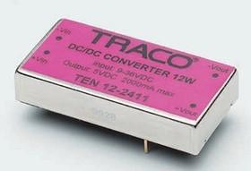 TEN12-2423, DC/DC преобразователь, 12Вт, вход 9-36В, выход 15,-15В/80мА