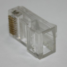Фото 1/4 TP10P10C (RJ-50) (KLS12-RJ46-10P10C-02- E-Transparent-0-2), Вилка сетевая