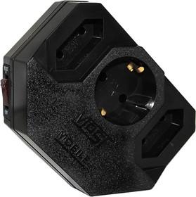 Most MRG-black Mobile, Фильтр-розетка сетевая, черная