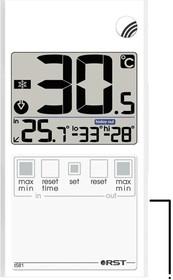01581, Термометр цифровой оконный в ультратонком (7 мм) корпусе дом/улица