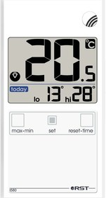 01588, Термометр цифровой оконный в ультратонком (7 мм) корпусе, внешняя температура