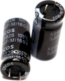 ECAP (К50-35), 47 мкФ, 160 В, 105°C, 12.5x25, B43828A1476M002, Конденсатор электролитический алюминиевый
