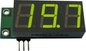 SVH0001G, Цифровой встраиваемый вольтметр 0..99,9В,зеленый индикатор