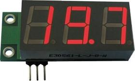 SVH0001R, Цифровой встраиваемый вольтметр 0..99,9В, красный индикатор