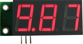 SVH0001R-10, Цифровой встраиваемый вольтметр 0..9,99В, красный индикатор