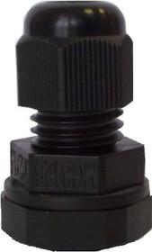 MGB12S-06B-ST, Ввод кабельный, полиамид, черный