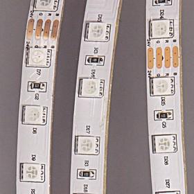 Фото 1/2 12 (LS607 (141-499)), Лента светодиодная 1 метр, 60SMD(5050)/m 14.4W/m 12V IP65 RGB