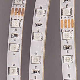 Фото 1/2 LS607 (141-499)(L5050RGB-IP65), Лента светодиодная 1 метр, 60SMD(5050)/m 14.4W/m 12V IP65 RGB