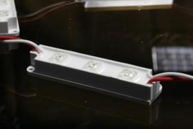 141-114, Модуль светодиодный 3 LED Piranha, 18мм х 72мм зеленый