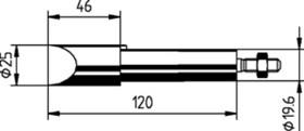 302MD, Жало клин 25мм к ERSA-300