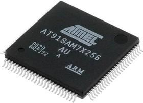 AT91SAM7X256(B)-AU, Микроконтроллер ARM7TDMI, 256KB Flash, Ethernet, USB, CAN, LQFP-100