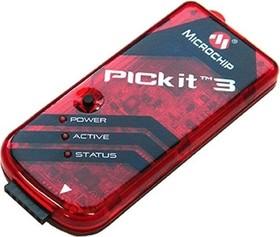 Фото 1/3 PicKit-3, Программатор для PIC- микроконтроллеров (PG164130)