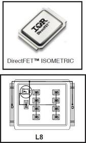 IRF7749L2TR1PBF, Nкан 60В 33А DirectFET L8